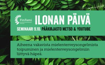 Ilonan päivän seminaari 9.10. – irti stigmasta