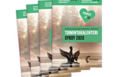 Syksyn 2020 toimintakalenteri – FinFami Pirkanmaa